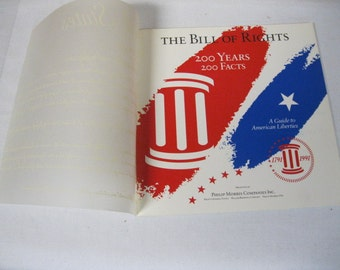 Make America Great Again Amercan Liberties Political Guide 1791-1991 The Bill of Rights 200 Years 200 Facts on 200th Anniversary to Display