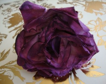 Millinery Purple Paper Rose Flower Rose Photo Prop Wedding Decor Wedding Party Favors OC Flowers