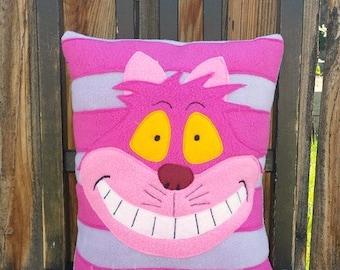 Cheshire Cat pillow, Alice in Wonderland, cushion, plush