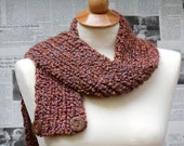 Chocolate Two-Way Scarf with Buttons