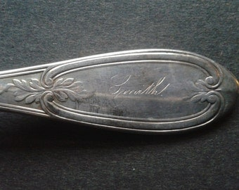 "Rogers, Smith & Co. Silver Plate Fork "" Olive "" Pattern Engraved "" Smith """