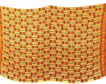 Kente Cloth Handwoven Asante Man's Cloth Huge Ghana African 77527 SALE WAS 690