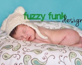 KNITTING PATTERN, Baby bear hat, 4 sizes, Sell what you make, Instant download