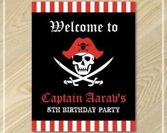 Pirate Party Welcome Sign