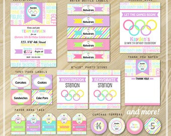 Olympic Party - Olympic Birthday Party Package - Party Printables