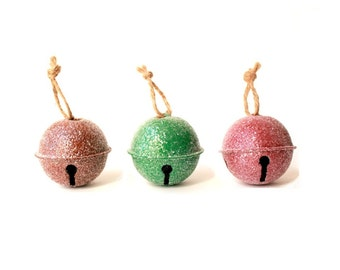 Large Jingle Bells Christmas favors . ornament favors  . christmas wedding favors . christmas ornament set . Christmas party favors