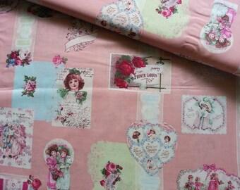 Japanese Fabric Cotton Yuwa - Vintage Valentine - a yard