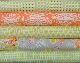 Sweet As Honey Fat Quarter Bundle of 5 by Bonnie Christine for Art Gallery Fabrics
