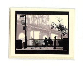 WOODY ALLEN'S Manhattan Card - Cute Love Card - Valentine's Day Card - I Love You Card - Woody Allen - Manhattan - Item L064