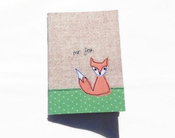 Mr Fox Notebook, A6 Notebook, mini notebook, pocket notebook, plain pages, sketchbook