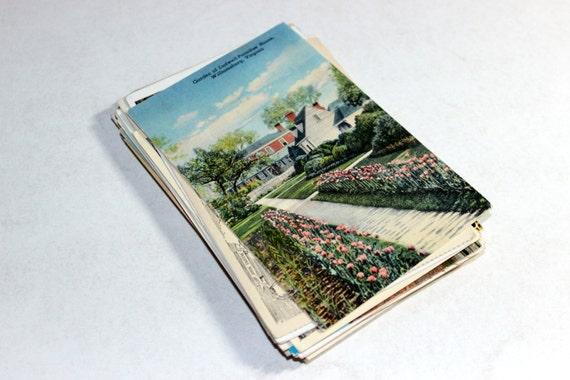 SALE - 115 Vintage Virginia Postcards - DAMAGED