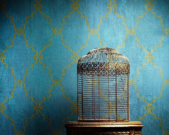 Indian Trellis Allover Wall Stencil For Allover Wallpaper Look