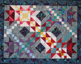Art Quilt, Midnight Sun