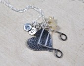 Personalized Love and Music Charm Necklace