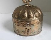 Acorn Top Brass Large Trinket Box