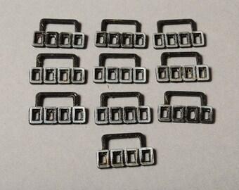 Set of 10 Vintage metal connectors