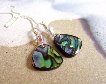 Sterling Silver Threaders-Abalone Shell-OOAK