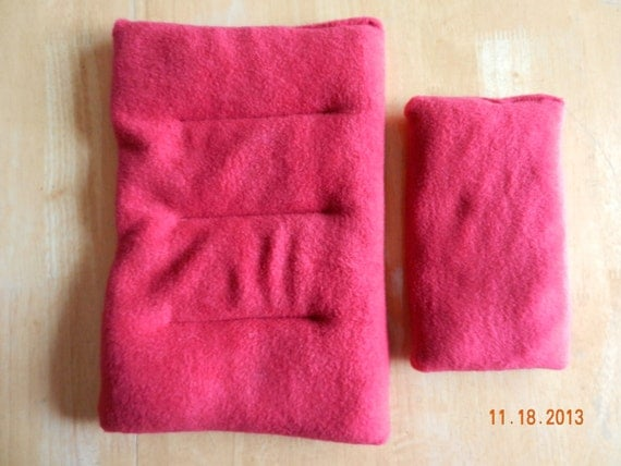 Two pack Red Microwave Heating Pad For Back, Rice, Hot Cold Pain Therapy, Moist Heated Pack