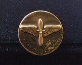 WWII U. S. Army Air Corps Wings and Propeller Collar Disk 1940s