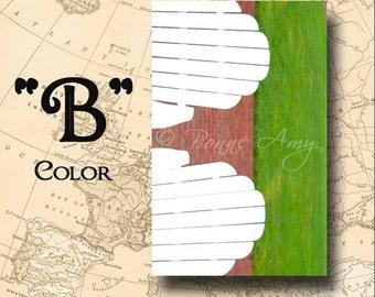Letter B Alphabet Photography Color 4 x 6 Photo Letter Unframed