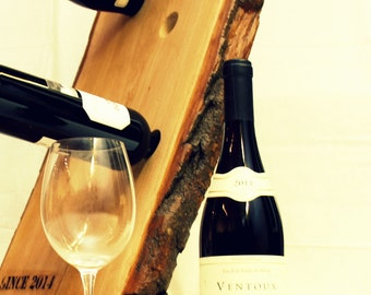 Solid Wood Wine rack  with unique corkscrew WB002