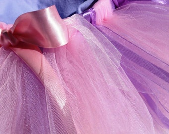 Pastel Tutu - Pink and Lavender Girls, Toddlers, Infants Photo Prop or Just for Fun