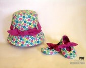 BABY GIRL Patterns / Hat and Booties / Hat Patterns / Shoes Patterns / Easy Sew / Newborn Patterns / DIY Sew