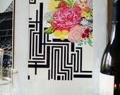 MICHI GARDEN modern watercolor floral art print