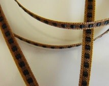 Brown with Black Square Thin Ribbon 14 Feet