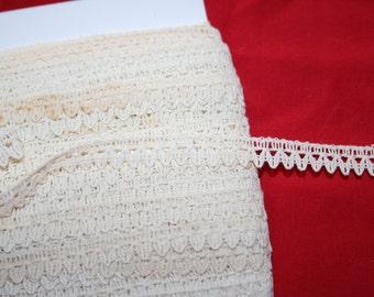 Vintage Cotton Lace Edging- 4 yards