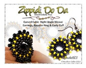 Beading Pattern Curved Cubic Right Angle Weave ZIPPIDI DO DA