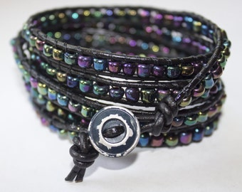 Midnight Oil Wrap Bracelet