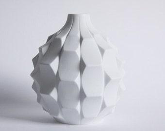 Mid Century  Bisquit Artichoke Vase by Heinrich Fuchs for Hutschenreuther, 1960s