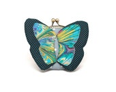 My secret blue butterfly coin purse