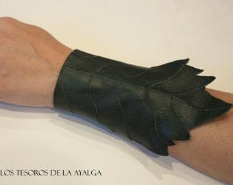 leather bracelet leaf