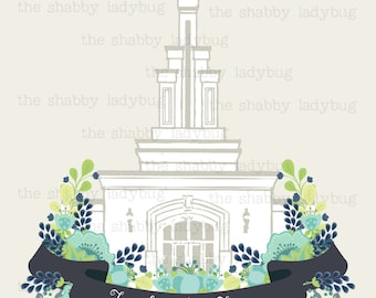 Families Are Forever 8x10 Columbia River Washington LDS Temple Instant Download