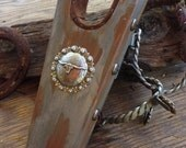 Rusty Silver Boot Jack with Concho