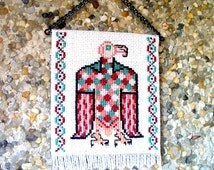 Celtic Eagle Tapestry, Dollhouse Miniature 1/12 Scale, Hand Made in the USA