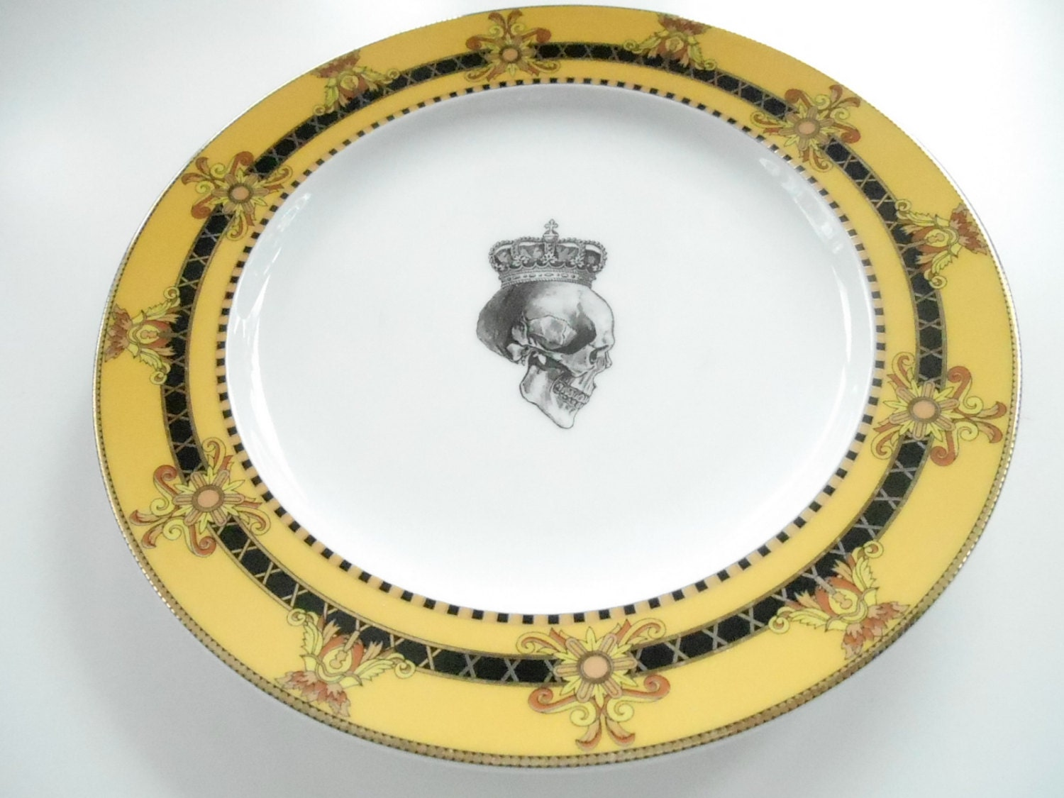 3-piece Yellow /Gold Skull Dinnerware Set, PAYMENT PLANS on