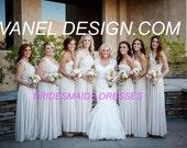 RUSH ORDER COST- Infinity Dress, Bridesmaids Dresses, Wrap Dresses, Convertible dresses, Wedding Gown