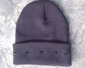 Black Spiked Studded Beanie can also be custom made in any color