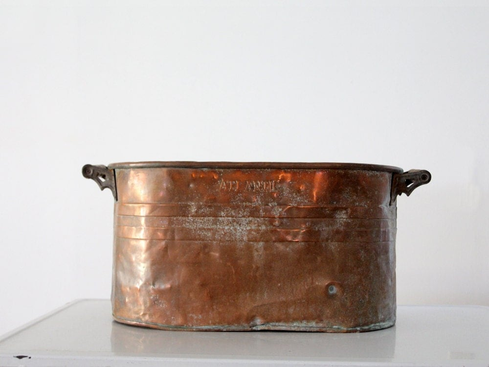 Vintage Copper Tub Atlantic Copper Wash Basin