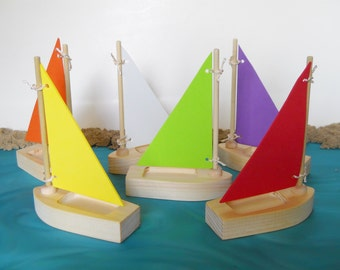 Toy Sailboat, Tub Toy,  Wooden Toy Sailboat, , Sailboat Tub Toy