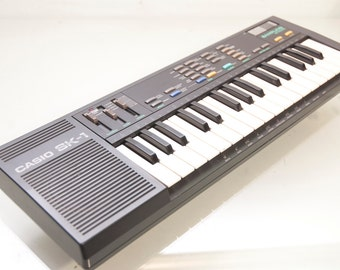 The Classic Black 80s Casio SK-1 Sampling Keyboard For All Your Burp Sampling Needs