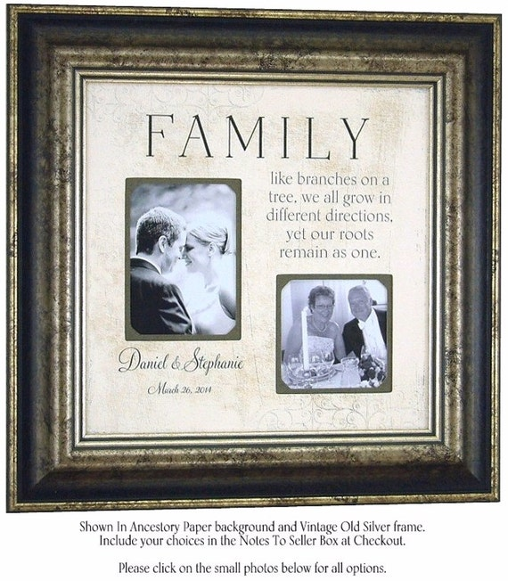 Wedding Frame Parents Wedding Gift Mother of the Bride, Father of the ...