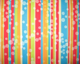 """Stripes and bubbles stretchy fabric 1/2 yard X 46"""""""