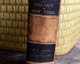 RARE First Edition Book- Sunshine and Shadow in New York- Antique Book