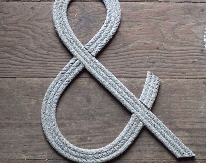 12 Inch Rope Letters Nautical Personalize Large Letters Monogram or Initials Kids Nautical room Decor Natural or Green Rope Nursery Weddings