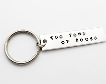 Key Chain for Women (Book Lover Quote from Louisa May Alcott, Librarian Gift)