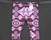 SALE Purple, Lavender, Grape, Geometric, Aztec, Baby Girl, Knit Leggings Pants, Blue, Teal, Pink, Black